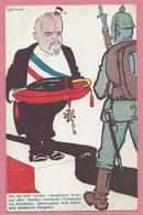 Guerre 14/18 - Carte Humoristique Allemande Signée LEONARD - Soldat Allemand - Député Français - Guerra 1914-18