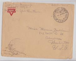 Free Soldiers Mail US Army Military Postal Express Service N°727 WW1 Cover France To Aberdeen 1918 YMCA Censor Post Mark - Vereinigte Staaten
