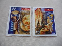 TIMBRES  EUROPA  2005     GÉORGIE    N 379 / 380  COTE  7,00 EUROS   NEUFS  LUXE** - Europa-CEPT