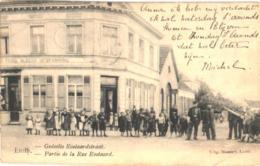 1 Oude Postkaart , Niet Verdeelde Rug 1908, Linth = Lint Geddelte Roetaardstraat  - Uit MASSART, Prins ALBERT Afspanning - Lint