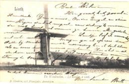 Linth = Lint  1 Oude Postkaart , Niet Verdeelde Rug 1908,  De Windmolen Op De MOLENVELDWEG, Uitgever D. HENDRIX - Lint