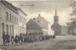 Linth = Lint  1 Oude Postkaart , Verdeelde Rug C1908 Dorpstraat - Uitgever VOET , Zeer Geannimeerd Met Al De Kinderen - Lint
