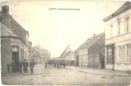1 Oude Postkaart , Verdeelde Rug C1908  Linth = Lint ,Lierschensteenweg, Uitgever VOET , Kreukje Boven Rechts Paard, Kar - Lint