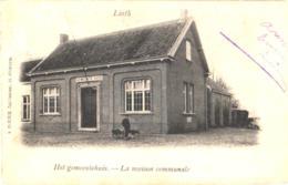 Linth = Lint1 Oude Postkaart , Onverdeelde Rug, Oude Gemeentehuis, Honderkar, Uitgave HENDRIX 1903 - Lint