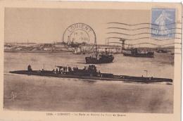 LORIENT  (56) Sous-marin Dans La Rade - Lorient