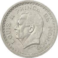 Monnaie, Monaco, Louis II, Franc, 1943, Poissy, TTB, Aluminium, Gadoury:131 - Monaco