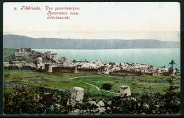 RB 1213 -  Early Postcard - Panoramic View - Tiberiade Tiberias - Israel Palestine - Israel