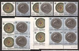 1976 San Marino Saint Marin EUROPA CEPT EUROPE 20 Serie Di 2v. MNH** - 1976