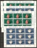 1976 Guernsey EUROPA CEPT EUROPE 27 Serie Di 2v. In Minifogli MNH** Minisheets - 1976