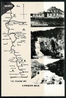 RB 1213 -  Super Map Postcard - Langdon Beck & The Penine Way - Scotland To Yorkshire - Maps
