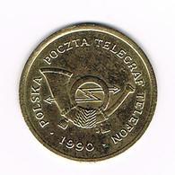 &-  JETON  POLSKA  POCZTA  TELEGRAF  TELEFON  1990  C - Professionals / Firms
