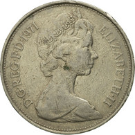 Monnaie, Grande-Bretagne, Elizabeth II, 10 New Pence, 1971, TB, Copper-nickel - 1971-… : Monnaies Décimales