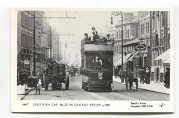 Croydon - Tram Car No. 22 In George Street C1902 - Pamlin REPRODUCTION Postcard No. M417 - Surrey