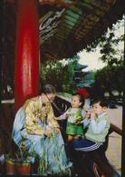AK Pavillon Rjongwang, Pjongjang KDVR, Gelaufen Nach Neuss, Siehe 2 Scans - Korea (Nord)