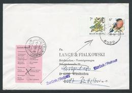 Brief Verstuurd Naar Wiesbaden Op 29.12.1988 En Teruggestuurd - 1985-.. Vögel (Buzin)