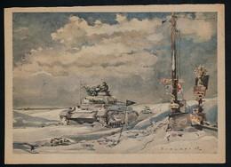 AK/CP Künstler  Panzer  WW 2     Gel./circ. 1943     Erhaltung/Cond. 2   Nr. 00531 - Guerre 1939-45