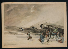 AK/CP Künstler  Luftwaffe  Flieger  Junkers  WW 2     Ungel./uncirc. Ca.1943     Erhaltung/Cond. 2-   Nr. 00532 - Guerre 1939-45