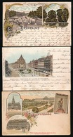 BRUXELLES  3 CARTES LITHOGRAPHIE - België