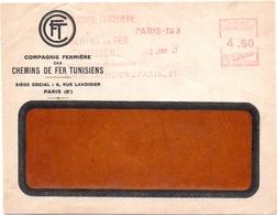 1947, EMA Havas K, Premier Jour De Tarif (2 Janvier) - Devant D'enveloppe (V388) - Postmark Collection (Covers)
