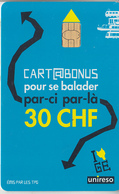 SUISSE - NO PHONE CARD - PAS TAXCARD - CHIP  *** CARTABUS 4 *** - Switzerland