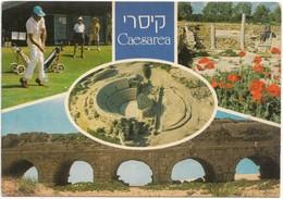 Israel, Caesarea, Multi View, Golf Course,1970s Unused Postcard [21650] - Israel