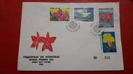 Le Honduras Fdc Des Orchidées 1991 - Honduras