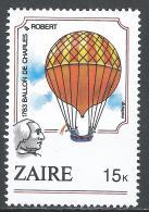 Zaire 1984. Scott #1161 (MNH) Charles & Robert 1783, Montgolfiere * - Zaïre