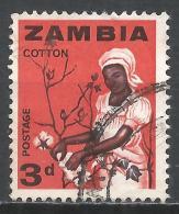 Zambia 1964. Scott #7 (U) Woman Picking Cotton * - Zambie (1965-...)