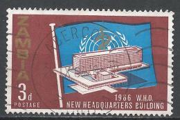 Zambia 1966. Scott #26 (U) Inauguration Of WHO Headquarters, Geneva * - Zambie (1965-...)