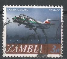 Zambia 1968. Scott #41 (U) Zambia Airways Plane * - Zambie (1965-...)