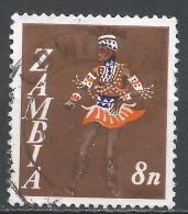 Zambia 1968. Scott #43 (U) Vimbuza Dancer * - Zambie (1965-...)