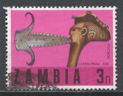 Zambia 1970. Scott #66 (U) Traditional Crafts, Ceremonial Axe * - Zambie (1965-...)