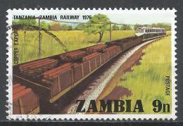 Zambia 1976. Scott #163 (U) Train Carrying Copper * - Zambie (1965-...)