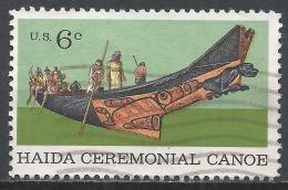 United States 1970. Scott #1389 (U) Tlingit Chief In Haida Ceremonial Canoe * - Etats-Unis