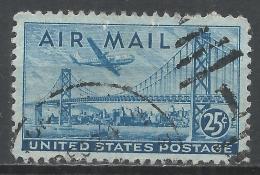 United States 1947. Scott #C36 (U) Plane Over San Francisco-Oakland Bay Bridge * - Poste Aérienne