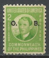 Philippines 1941. Scott #O37 (MNH) José Rizal, Overprinted * - Philippines