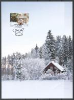Aland Islands 2017. Scott #400 (U) Post Card, Christmas, Gingerbread Houses * - Aland