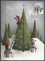 Aland Islands 2016. Scott #388 (U) Post Card, Christmas, Elf, Reindeer And Gifts * - Aland