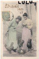 Femmes 607 Précurseur : Coqs Poule œufs , 20 Avril 1905 ; édit. D & C B Série 2273 - Femmes