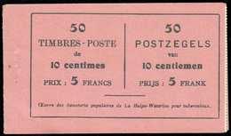 Carnet N°15b - Couverture Type N°1015, Complet Avec Intercalaires Translucides Et Agrafe D'origine, Xx. (4 Timbres Manqu - Carnets 1907-1941