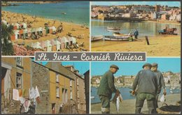 Multiview, Cornish Riviera, St Ives, Cornwall, 1969 - Murray King Postcard - St.Ives
