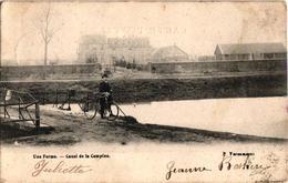 1 Oude Postkaart  Lommel  Kempisch Kanaal  Een Hoeve  Anno 1908  Drukker Vercammen - Lommel