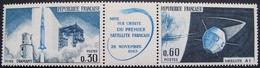 1803 - MISE SUR ORBITE DU PREMIER SATELLITE FRANCAIS 26 NOVEMBRE 1965 - N°1465A TRIPTYQUE NEUF** - Nuovi