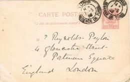 29561. Entero Postal TUNIS (Regence Tunez) 1906 - Tunesien (1956-...)