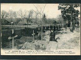 CPA - Guerre De 1914 - CONNANTRAY - Tombes D'Officiers Et De Soldats Français, Animé - War 1914-18
