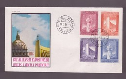 CITTA' DEL VATICANO - 19 6 1958  1958 FDC EXPO BRUXELLES - 1958 – Bruxelles (Belgio)
