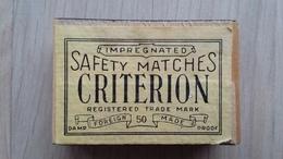 Zündholzschachtel CRITERION Safety Matches - Zündholzschachteln