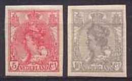 Nederland NVPH Nr 82/83 Postfris / MNH - Periode 1891-1948 (Wilhelmina)