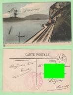 France Savoia  Lac Du Bourget  Train Chemin De Fer Carte Postal 1916 - Francia
