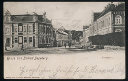 AK/CP Bad Segeberg  Kirchstraße   Gel./circ. 1907 , Karte älter      Erhaltung /Cond. 2  Nr. 00542 - Bad Segeberg
